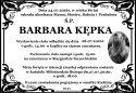 Ś.P. BARBARA KĘPKA
