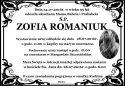 Ś.P. ZOFIA ROMANIUK