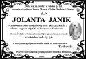 Ś.P. JOLANTA  JANIK