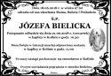 ŚP. JÓZEFA BIELICKA