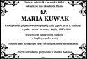 Ś.P. MARIA KUWAK
