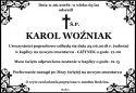 Ś.P. KAROL WOŹNIAK