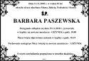 Ś.P. BARBARA PASZEWSKA