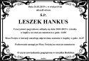 Ś.P. LESZEK HANKUS