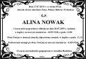 Ś.P. ALINA NOWAK