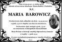 Ś.P. MARIA BAROWICZ