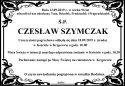 Ś.P. CZESŁAW SZYMCZAK