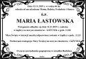 Ś.P. MARIA ŁASTOWSKA