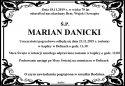 ŚP. MARIAN  DANICKI