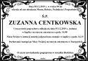 Ś.P. ZUZANNA CENTKOWSKA