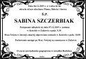 Ś.P. SABINA SZCZERBIAK