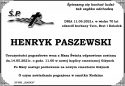 ŚP. HENRYK PASZEWSKI